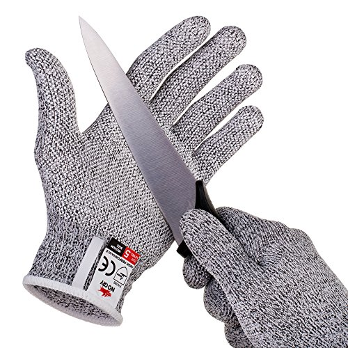 NoCry Cut Resistant Gloves with Secure-Grip Microdots and Level 5...