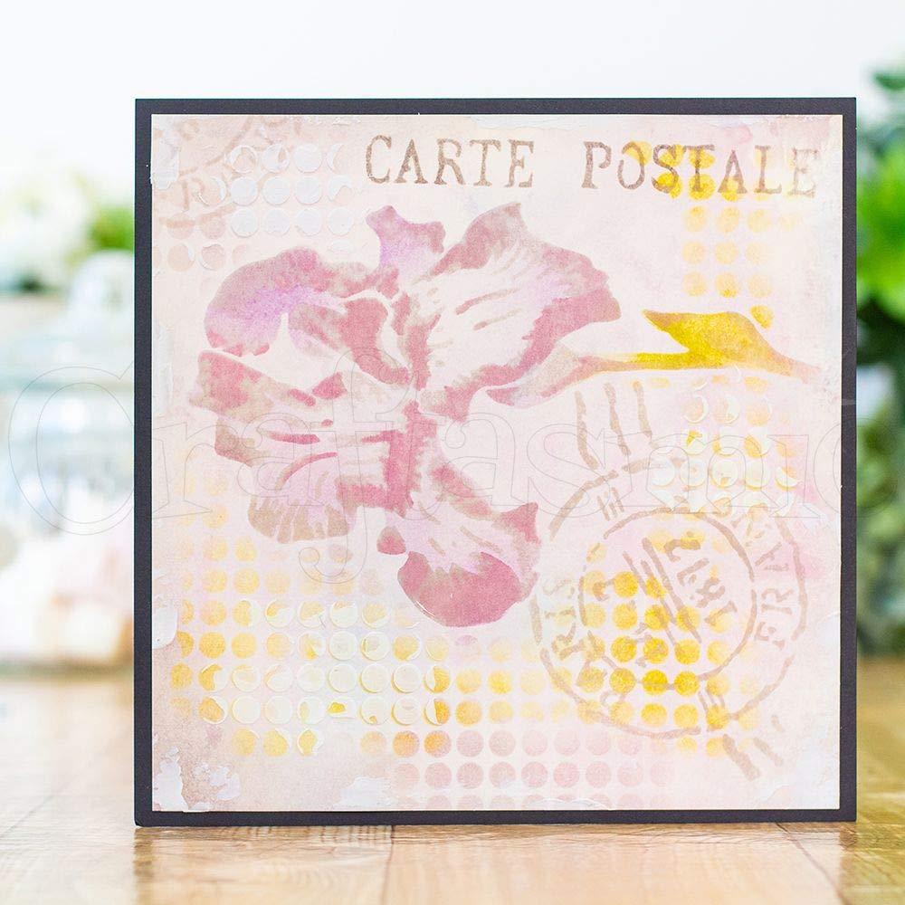Carte Postale 3D Layering Stamps /& Stencils Crafters Companion Parisian