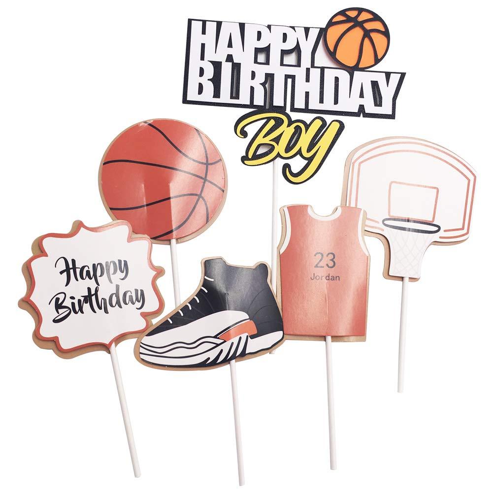 Zapatillas de baloncesto para decoración de tartas rosso: Amazon ...