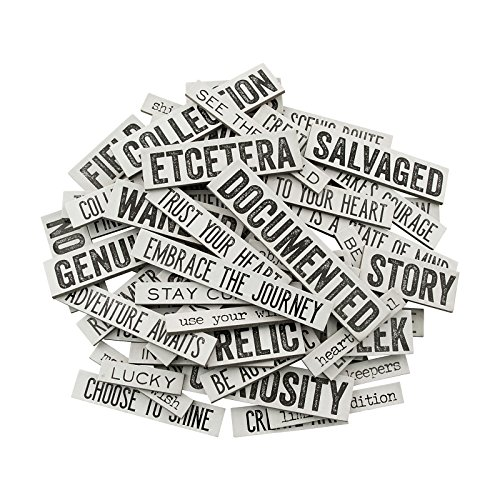 Tim Holtz Idea-ology Quote Chips by, Chipboard, 58 Quote Chips - Chipboard Words