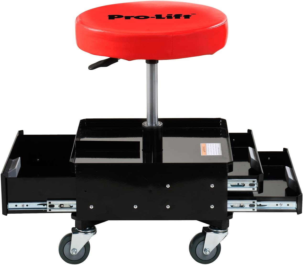 Pro-LifT C-3100 Grey Pneumatic Chair with Dual Tool Tray 300 lb Capacity