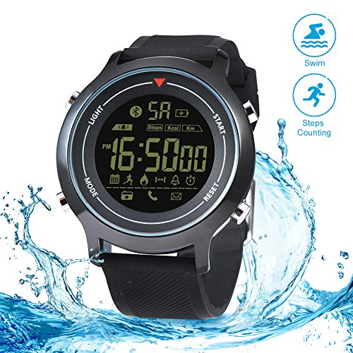 RUNACC Vibe Smart Sport Watch Waterproof Watch for Outdoor Exercise, Compatible with Smart Phone, Monitoring Sports Data, Bluetooth Connection by RUNACC