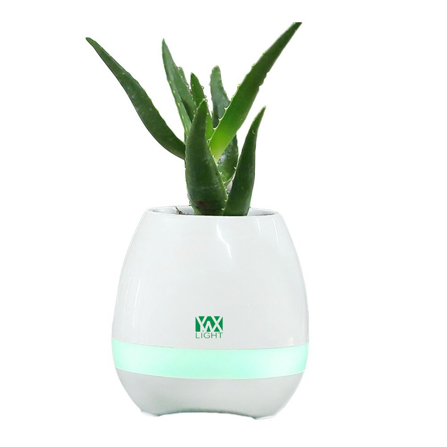 LL Smart Touch Sensors LED Night Light LED Music Bluetooth Flower Flower Vase Play The Piano Decoration Planter Speaker 5Watts (Color : White)