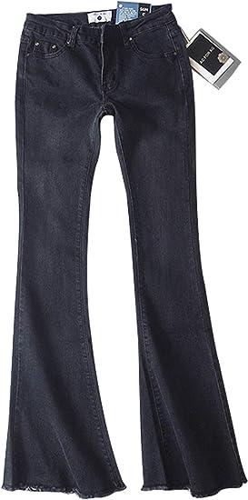 Jueshanzj Vintage Pantalones Acampanados De Mezclilla De Mujer Gris Oscuro 29 Amazon Com Mx Ropa Zapatos Y Accesorios