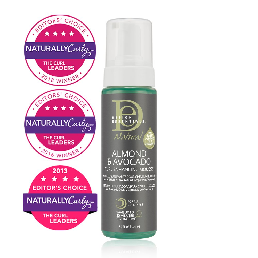 Amazoncom Design Essentials Natural Curl Enhancing Mousse Quick