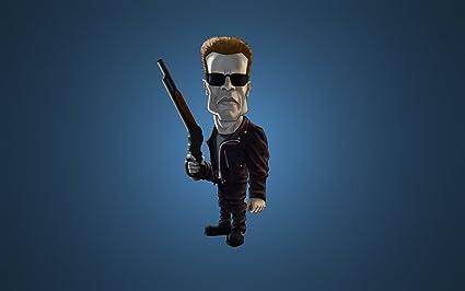 fe2de762847 Image Unavailable. Image not available for. Colour: Posterhouzz Terminator 2:  Judgment Day Terminator Arnold Schwarzenegger Cartoon Sunglasses ...