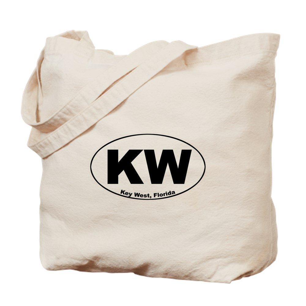 CafePress – KW ( Key West ) – ナチュラルキャンバストートバッグ、布ショッピングバッグ B06Y285KK5