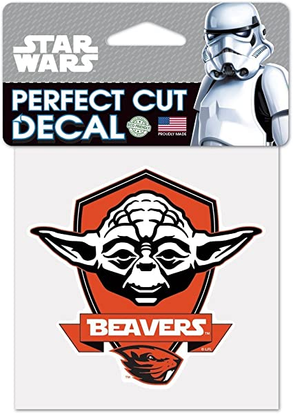 WinCraft NCAA Oregon State University 15464115 Perfect Cut Color Decal Black 4 x 4