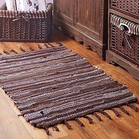 B&Y Handmade Laundry Room Area Rag Rugs for Kitchen, Bathroom, Entry Way,  Hallway and Bedroom 44\