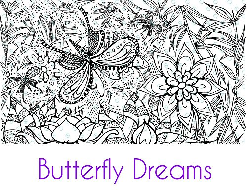 Silkscreen Stencil Butterfly Dreams crafting, polymer clay + mixed media