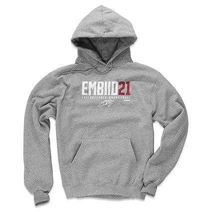 500 LEVEL Philadelphia Basketball Men s Hoodie - Small Gray - Joel Embiid  Embiid21 W WHT 117f61f57