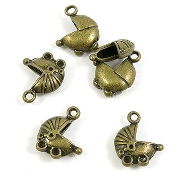 Joyería Making charms antiguo bronce antiguo Fashion joyas hacer manualidades con las conclusiones Bulk para pulsera collar colgante A03797 cochecito ...