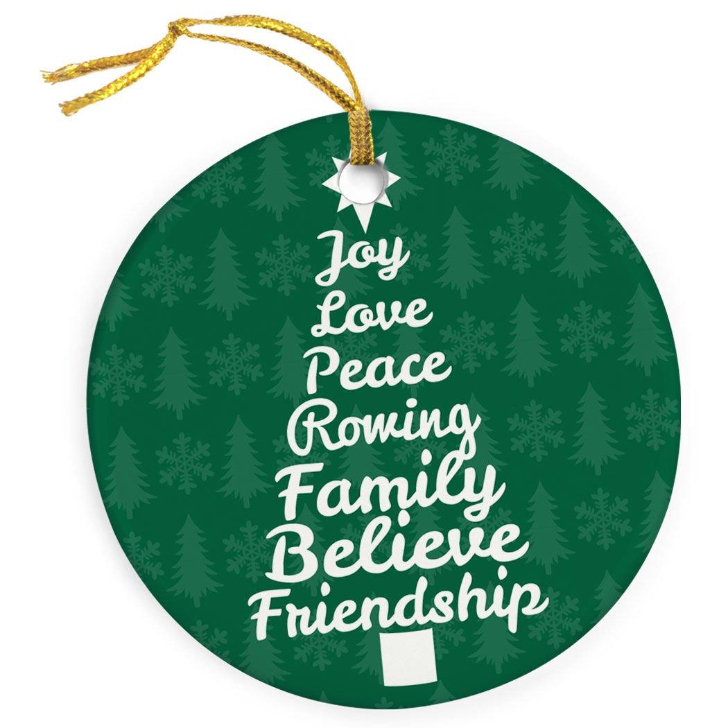 Amazon Com Chalktalksports Joy Peace Rowing Christmas Ornament