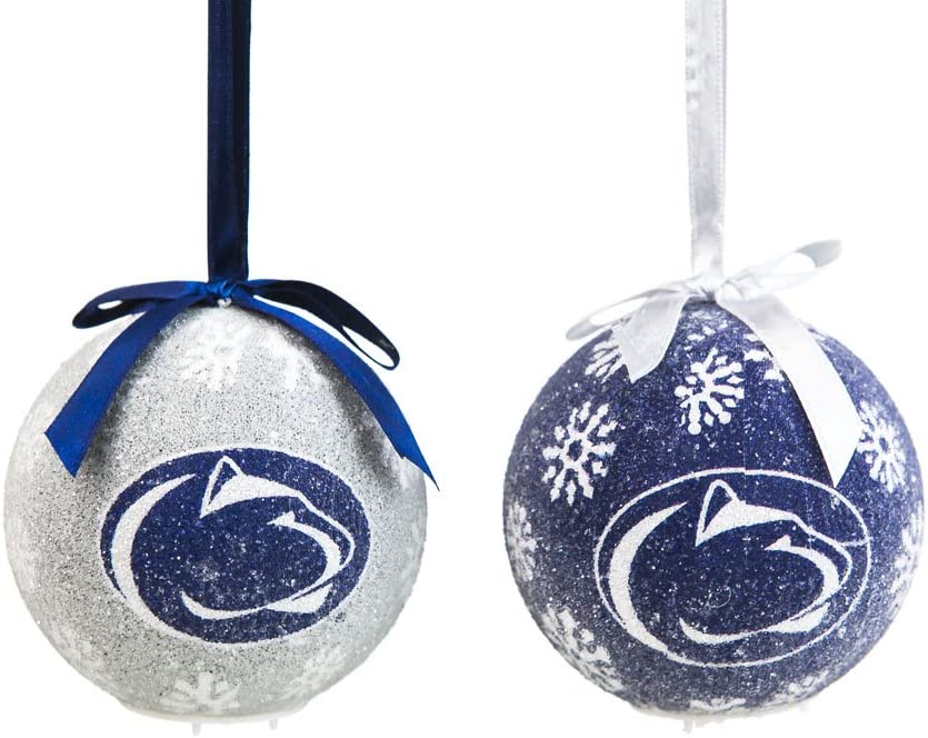 FTH Penn State Nittany Lions Bulb Silver Metal Christmas Ornament Gift Tree Decoration