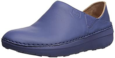 3b852bd297e6 FitFlop Women s Superloafer Leather Loafers Indian Blue 9   Sunlotion Bundle