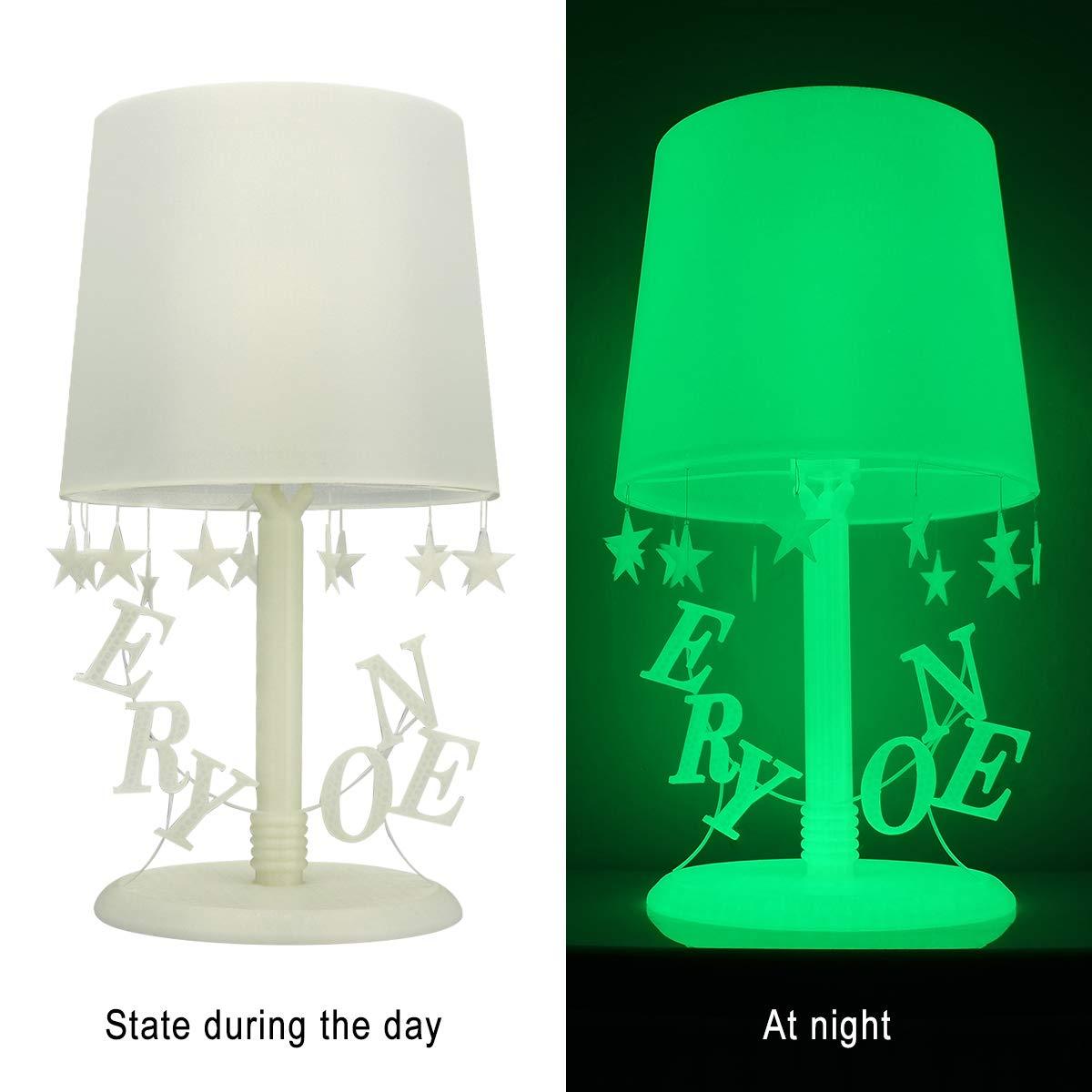 Filamento PLA 1.75 mm Blanco, PLA luminoso, Verde brilla en la ...