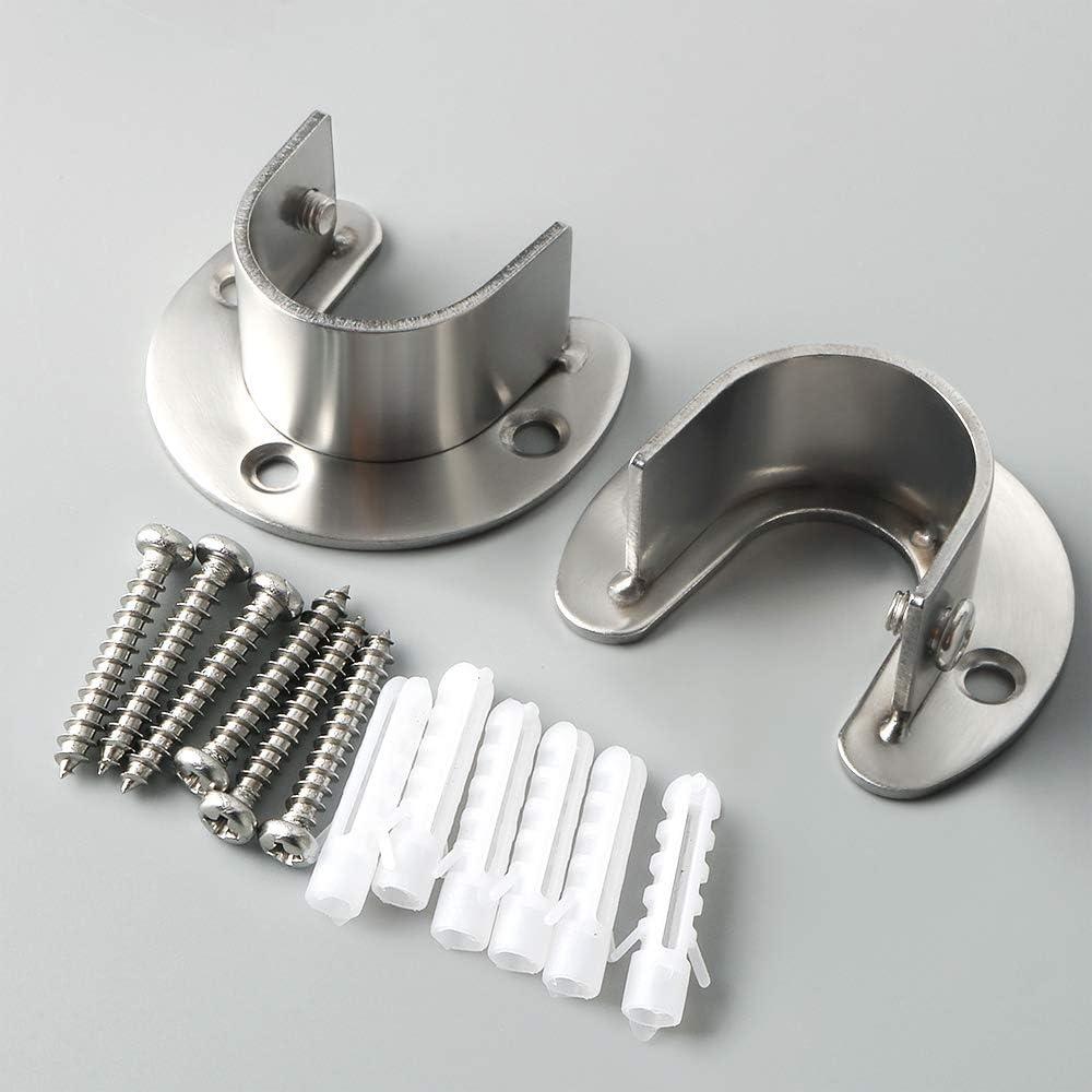 Sayayo EFL8001LS-2P Juego de 2 llaves de vaso para armario 26 mm de di/ámetro, acero inoxidable, acabado cepillado