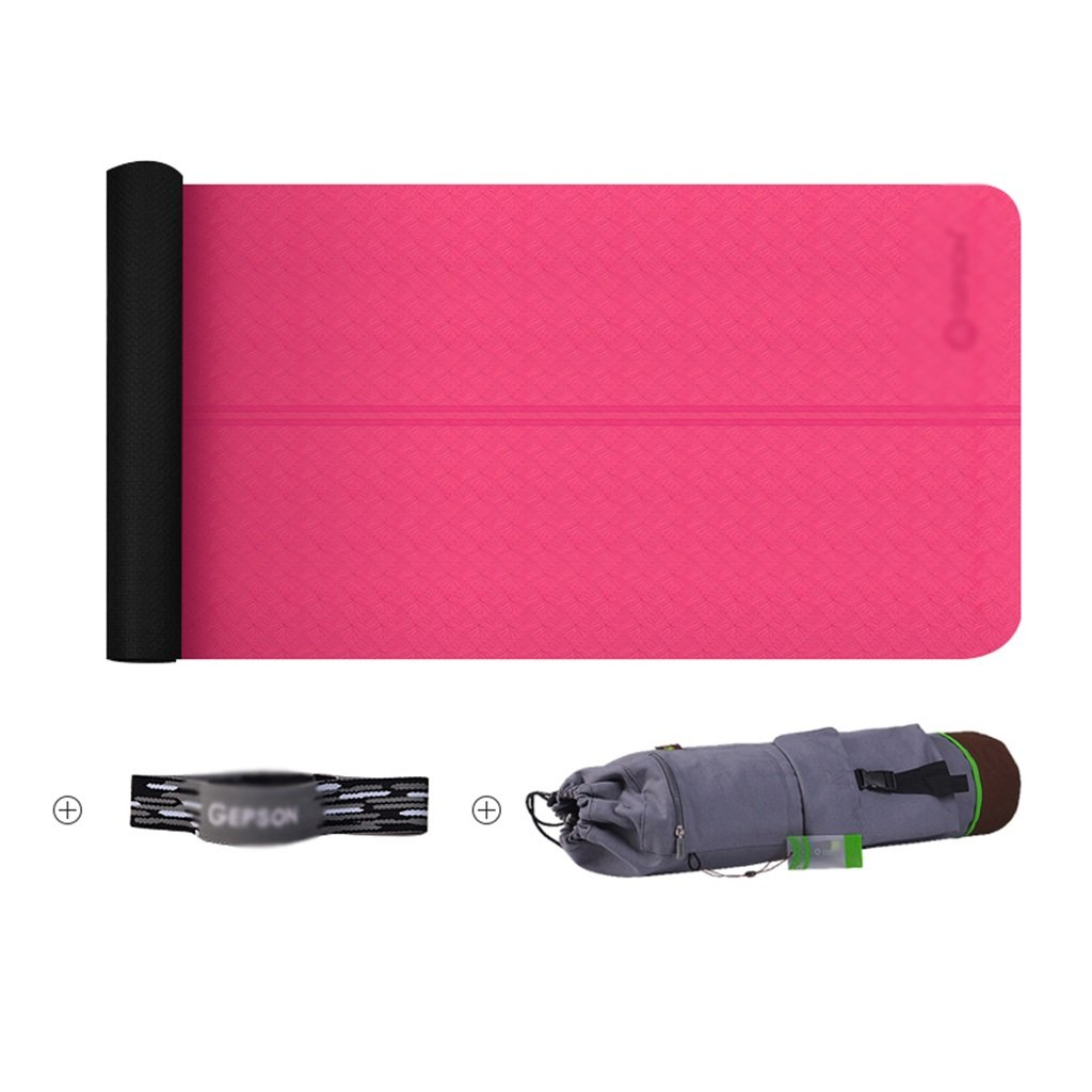 QINGTAOSHOP Anfänger Yogamatte erweitert verlängert Fitness Camping Tanzmatte Rutschfeste schweißabsorbierende Feste Farbe 72  24.4  0.2in