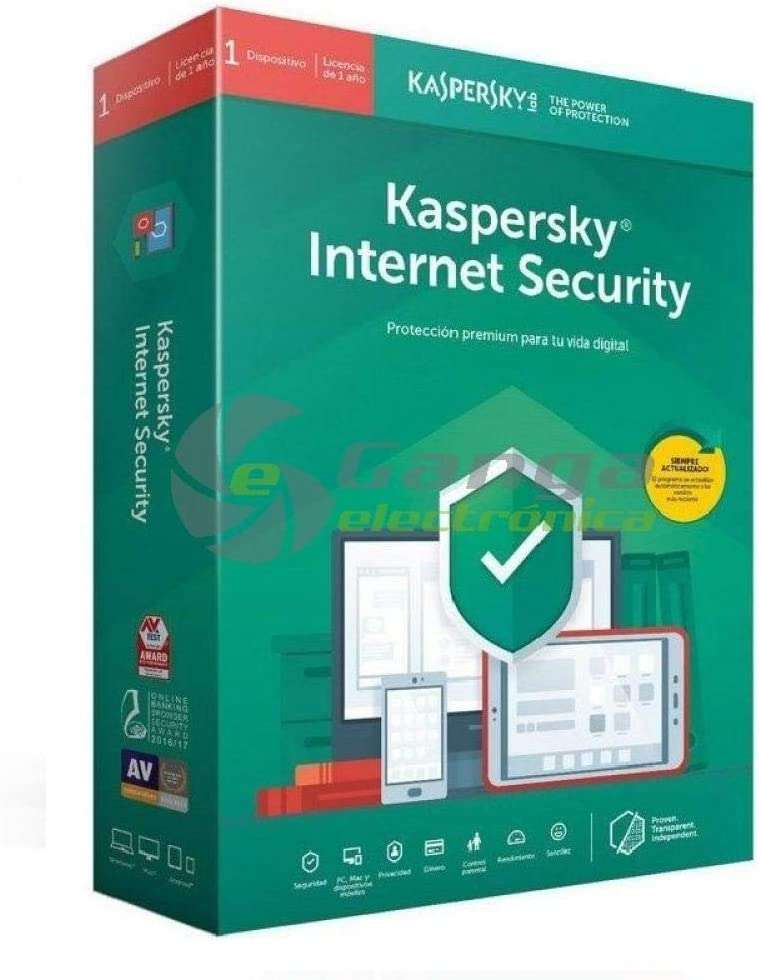Kaspersky Antivirus, KIS 2020 Internet Security, 1 Licencia 1 año