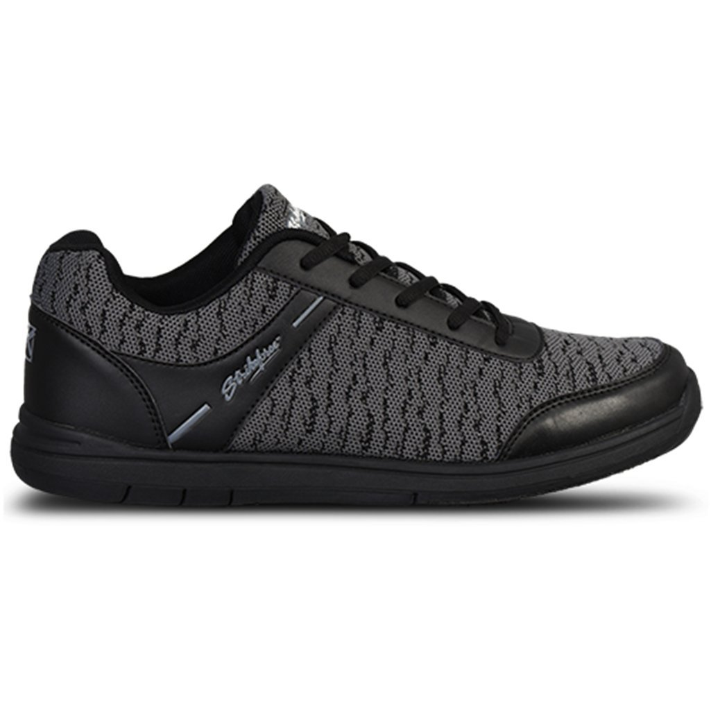 KR Strikeforce Mens Flyer Mesh Bowling Shoes- Black/Steel B07CV1RM97 Size 6