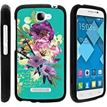 Alcatel Pop Icon Case, Perfect Fit Cell Phone Case Hard Cover with Cute Design Patterns for Alcatel POP ICON A564C, Alcatel One Touch Fierce 2 7040T (T Mobile, Metro PCS, Straight Talk) from MINITURTLE | Includes Clear Screen Protector and Stylus Pen - Painted Flowers