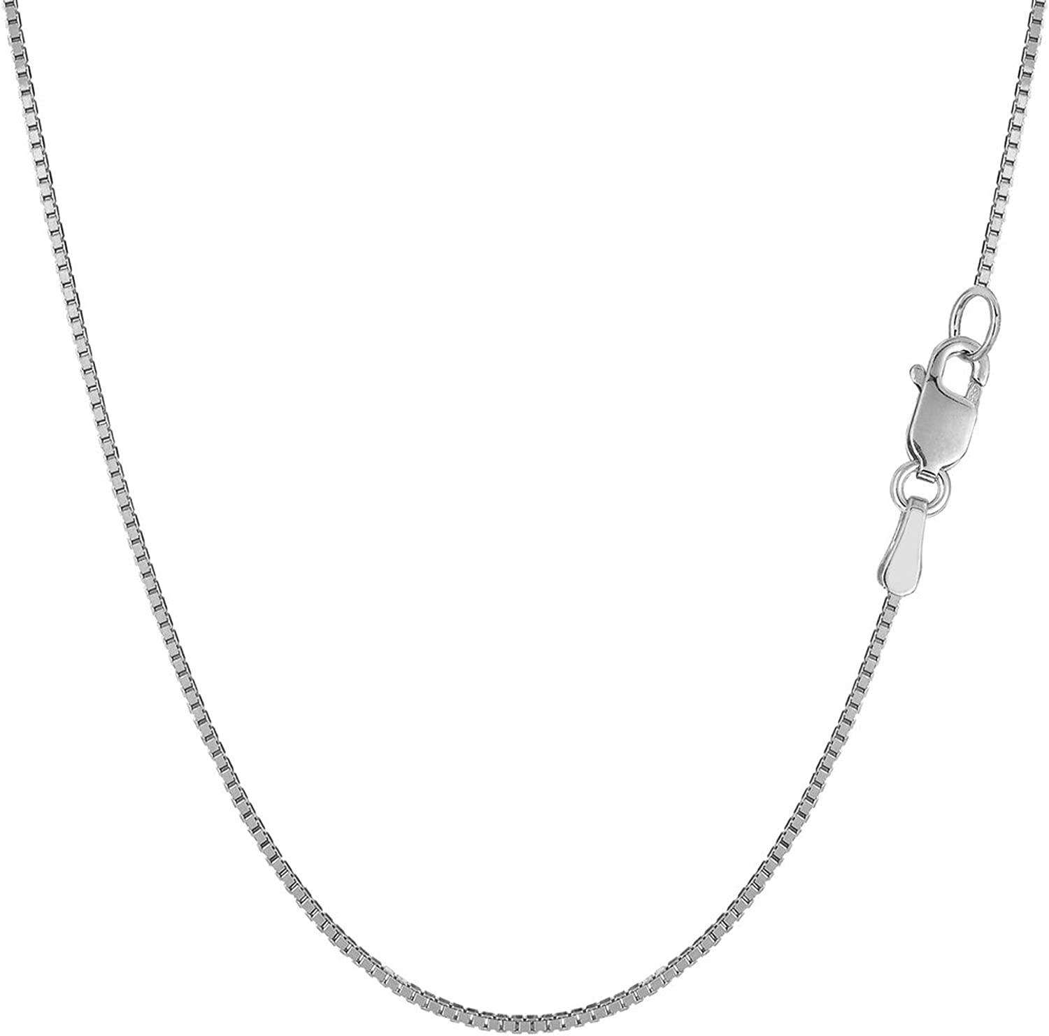 1.4mm 2.3mm 1.8mm R/&R Sterling Silver Rhodium Plated Diamond-Cut Rope Chain Necklace
