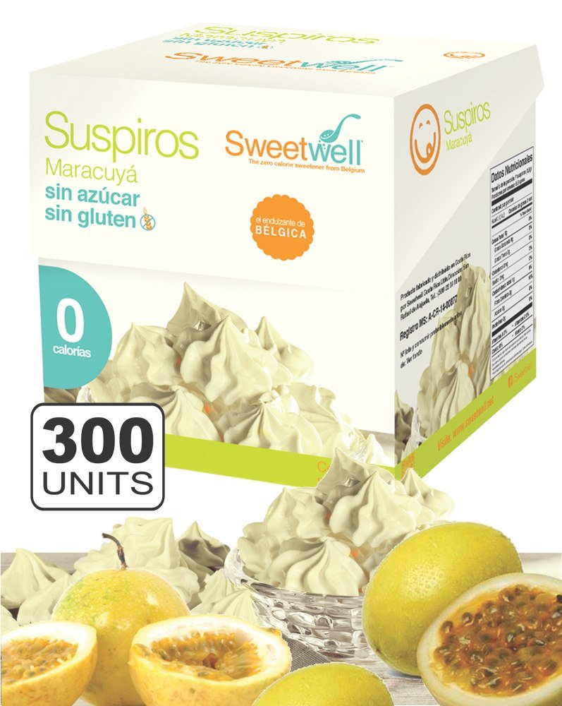 Sweetwell Sugar Free Meringue Cookies, Passion Fruit - 300 units (10 bags of 30 units).