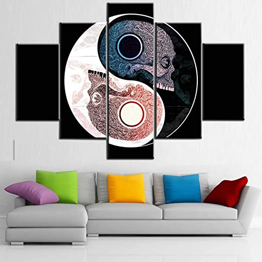 """12/""""x20/""""Yin Yang star Paintings HD Print on Canvas Home Decor Wall Art Picture"""