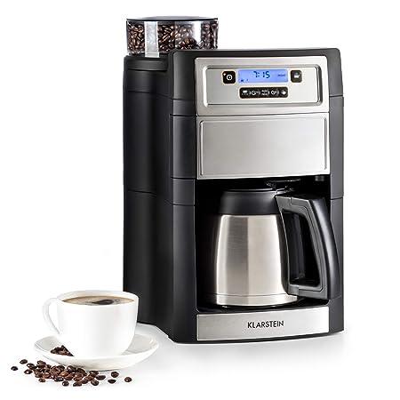 KLARSTEIN Aromatica II máquina de café con molinillo conico - Máquina de café con filtro, 1000 W, Jarra de 1,25 L, Programable 24 h, Pantalla LCD, ...