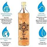 Flaska Trinkflasche Design Flaska Emoto Peace Project - Wasserflasche Glasflasche + 2 Korken