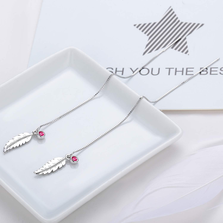 JUSTKIDSTOY 18K Handmade Threader Earrings, Multiple Ways to Wear Threader Tassel Earrings, Hypoallergenic 925 Sterling Silver Drop Threader Earrings for Women Girls by JUSTKIDSTOY (Image #5)