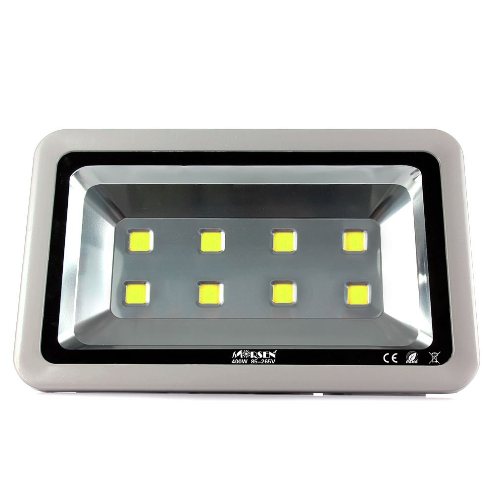 Led Flood Light Morsen Super Bright 400w Daylight White 6000k Floodlight Fixture 40000lm 8leds Waterproof Ip65 Outdoor Security Wall