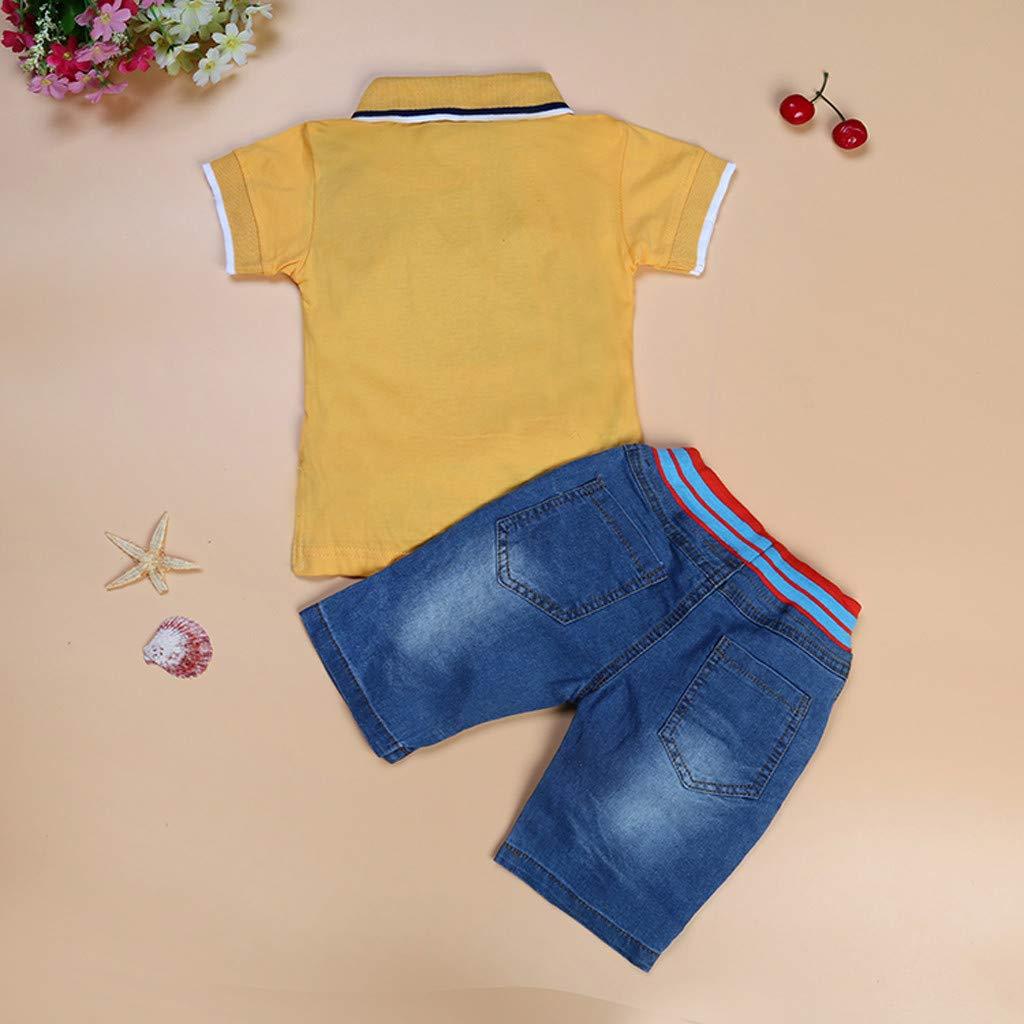 Amazon.com: Iuhan Clothes Summer Children Kids Boys Letter Printed T ...