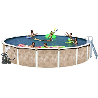 Splash Pools Round Deluxe Pool Package, 24-Feet by 52-Inch