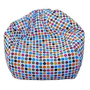 Children's Bean Bag Teardrop Polka Dot Cotton Kids Bean Bag Furniture