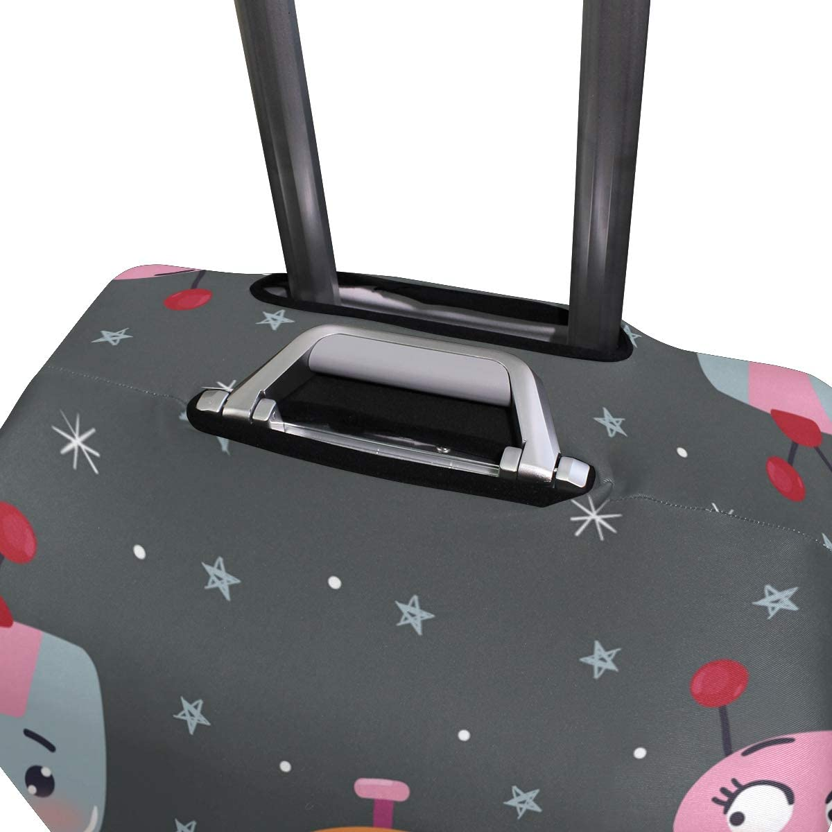 FOLPPLY Cute Cartoon Robot Luggage Cover Baggage Suitcase Travel Protector Fit for 18-32 Inch
