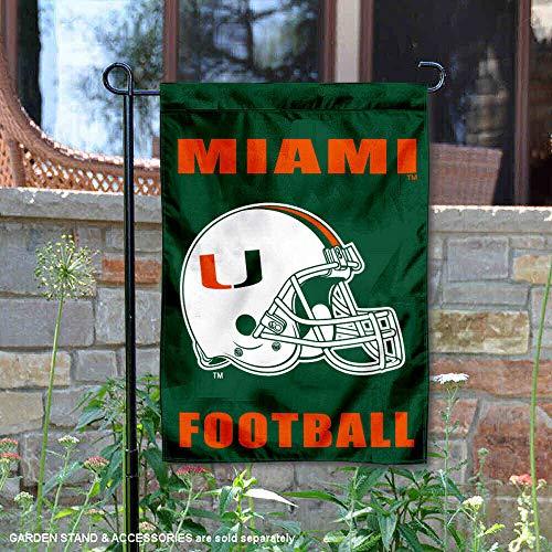 Miami Hurricanes Football Garden Flag and Yard Banner