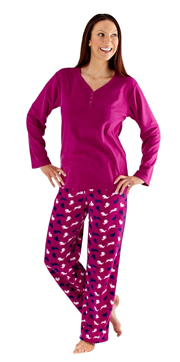 i-Smalls Ladies Pyjama Set All over Animal Print Design Long Sleeve