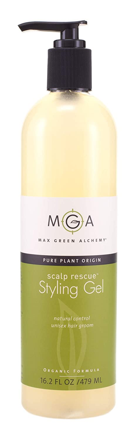 Scalp Rescue Styling Gel, 16.2 fl oz, Organic Unisex Formula Controls Frizz and Fly Away Hair, Curly Hair Community Favorite Gives Flexible Natural Hold, Fights Humidity, Alcohol Free & Water Based