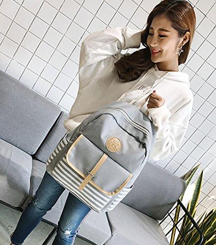 Girls Backpack School Gray Women Bookbags Bags Black Travel Preppy Shoulder Bag Canvas Bags Shoulder wIzEqC