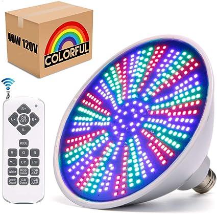 Zerodis Luces de Piscina LED de 35W RGBW Luz de Estanque 468LED Luz de ba/ñera Impermeable Colorida de Gran Consumo AC 12V Control Remoto SL-8001