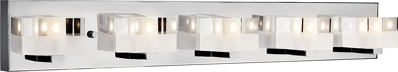 Elan 83190 Considine Vanity Bath壁照明、5ライト合計100ワット、クロム B00KDT96YO