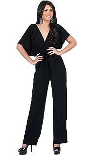 4ce4d233bb4f KOH KOH Womens Short Kimono Sleeve One Piece Jumpsuit Cocktail Romper Pant  Suit