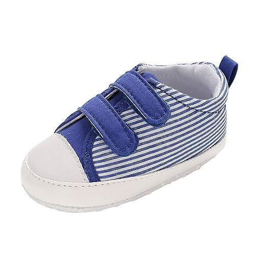 Zapatos Antideslizantes, Amphia Zapatos De Lona para BebéS Zapatilla Antideslizante Pegatina MáGica Estudio Paso Suela Suave NiñO PequeñO Zapatos De Lona ...
