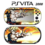 Skin Decal Cover Sticker for Sony PlayStation PS Vita Slim (PCH-2000) - Dragon Ball Z Xenoverse