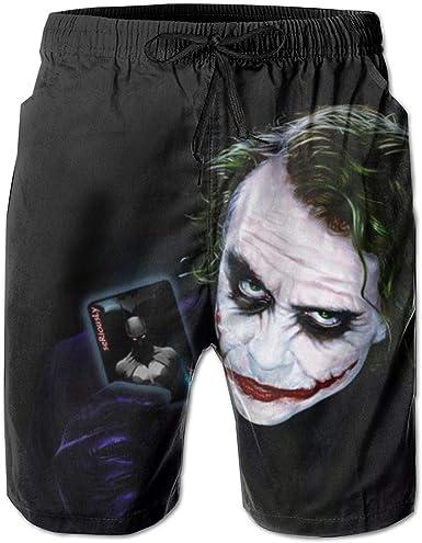 Amazon Com Joker Swim Trunks The Dark Knight Swimwear Quick Dry Beachwear Waterproof Swim Board Shorts Clothing