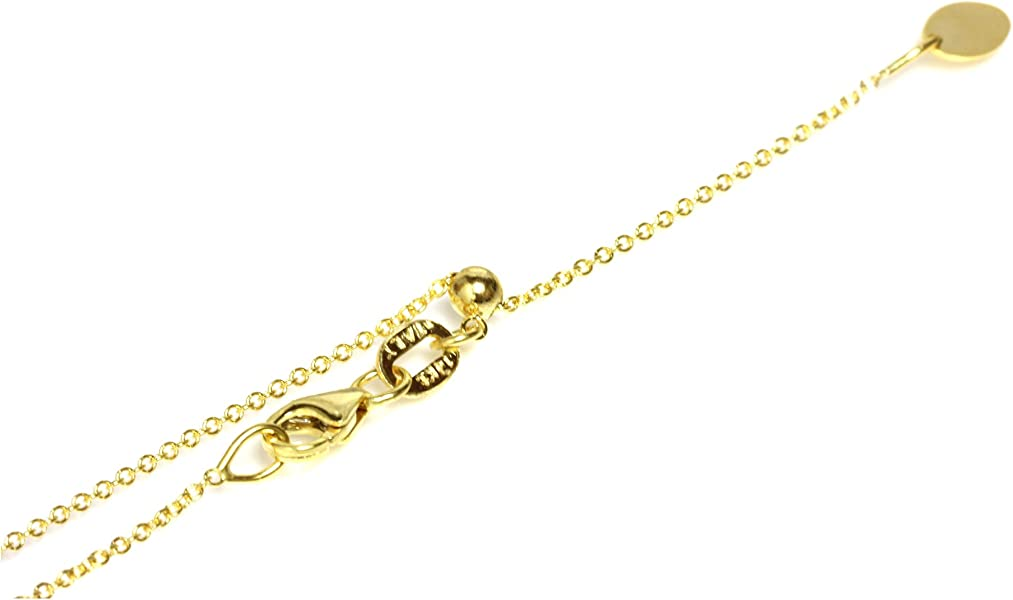 1f3ca5ae21184 Amazon.com  14kt Solid yellow Gold Adjustable Chain 14
