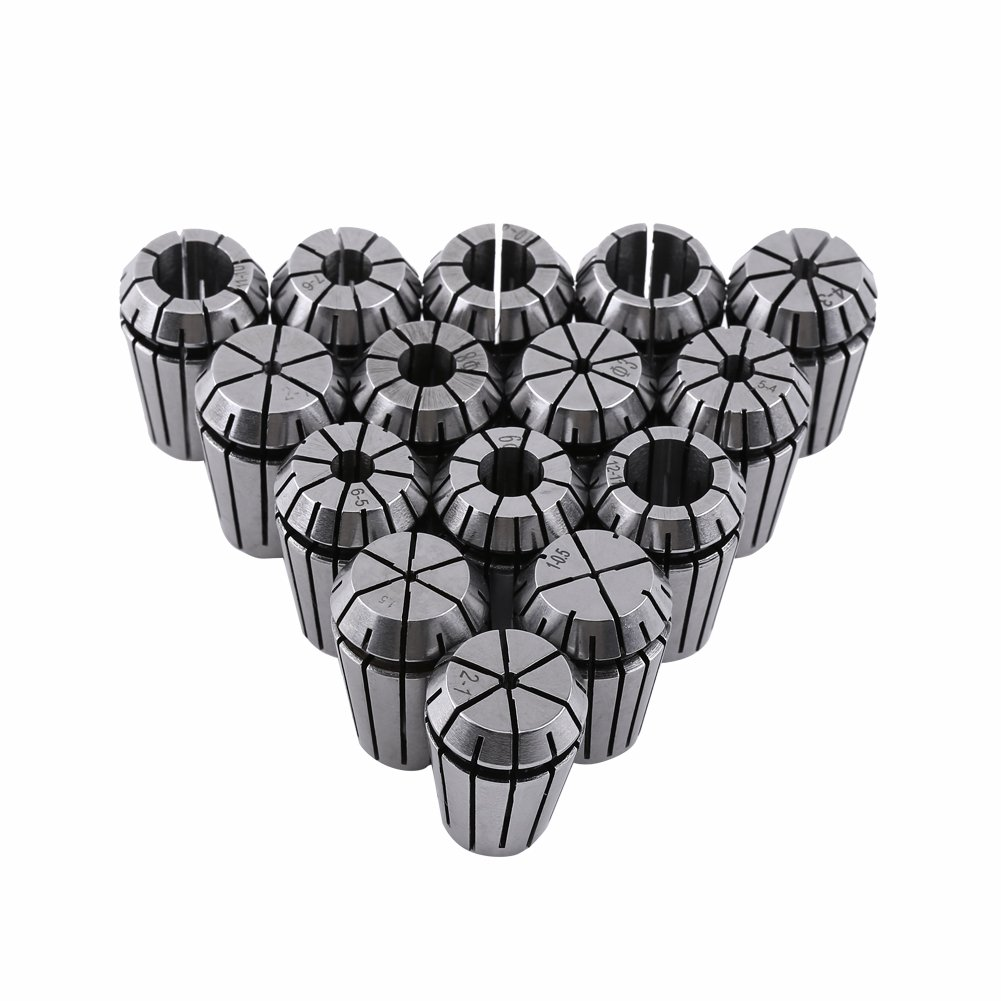 ZJchao 15pcs ER20 Spring Collet Set for CNC Engraving Machine and Milling Lathe Tool 1-13mm by ZJchao (Image #1)