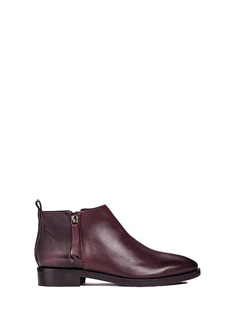 Geox Donna Brogue F, Botines para Mujer, Rojo (Dk Burgundy C7357), 39.5 EU: Amazon.es: Zapatos y complementos