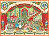 Entertaining with Caspari Christmas Ballet Advent Calendar with 3-D Relief, 1-Count